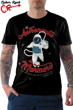 Camiseta Nacional Astronauta de Mármore