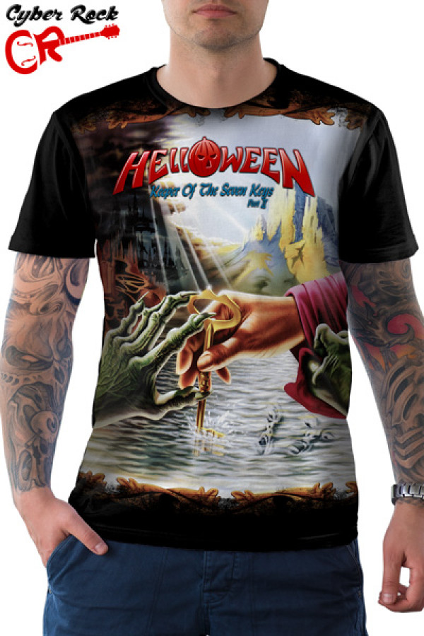 Camiseta Helloween Keeper Of The Seven Keys PartII