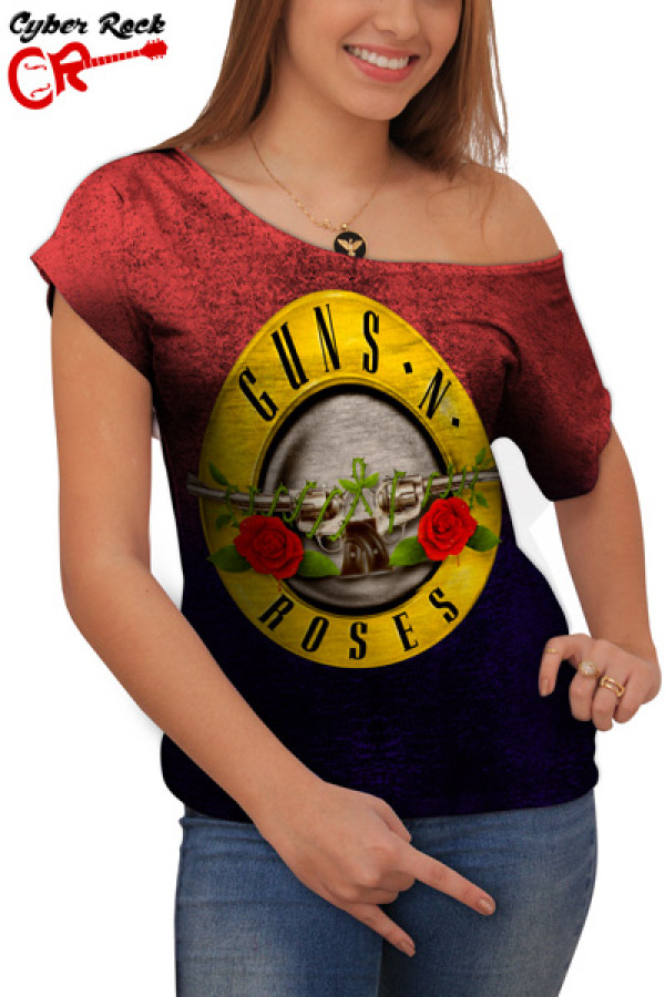 Blusinha Guns n' Roses Premium frente