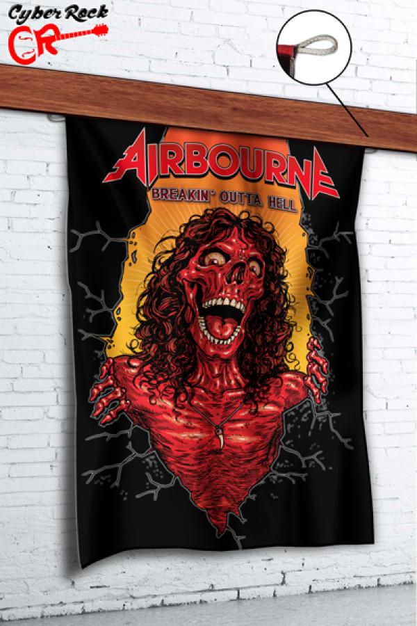 Bandeira Airbourne Breakin' Outta Hell