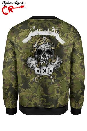 Blusa moletom Metallica camo tz