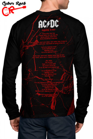 Raglan Manga Longa AC-DC Highway to Hell