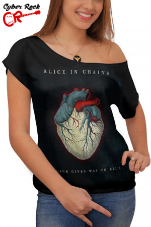 Blusinha Alice In Chains Black Gives Way to Blues