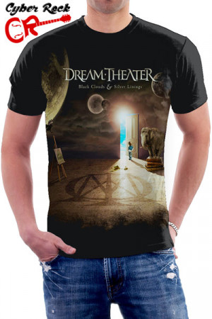 Camiseta Dream Theater Black Clouds And Silver Linings