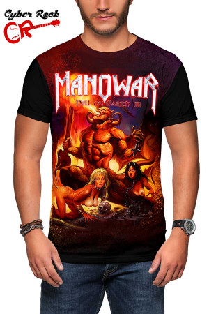 Camiseta Manowar Hell on Earth III