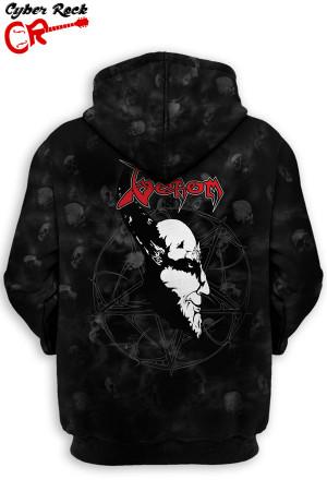 Blusa Capuz Venom Black Metal