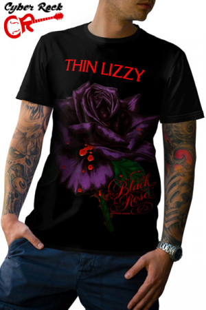 Camiseta Thin Lizzy - Black Rose: A Rock Legend