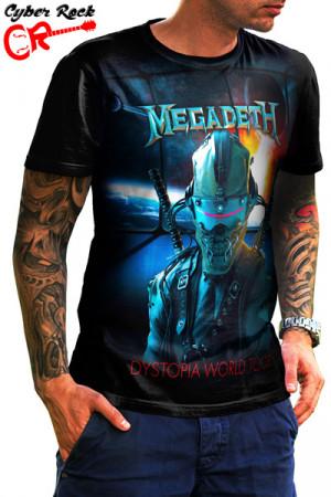 Camiseta Megadeth Dystopia World Tour