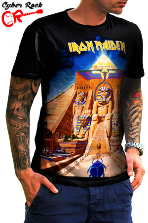 Camiseta Iron Maiden Powerslave Front