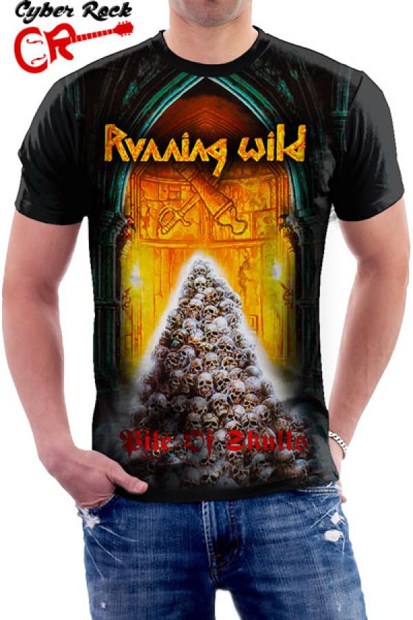 Camiseta Running Wild Pile of Skulls