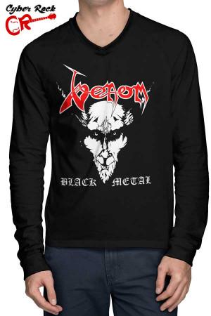 Raglan Manga Longa Venom Black Metal