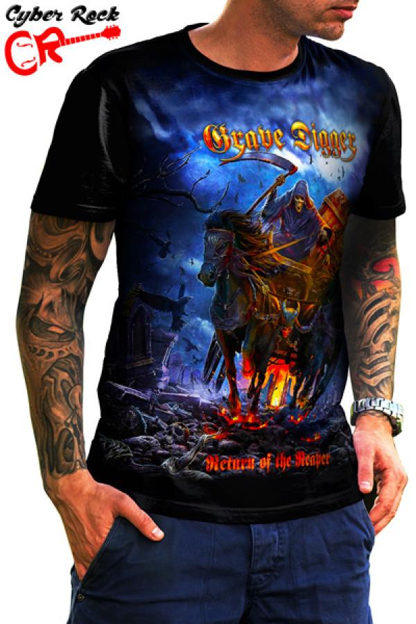Camiseta  Grave Digger Return of the Reaper