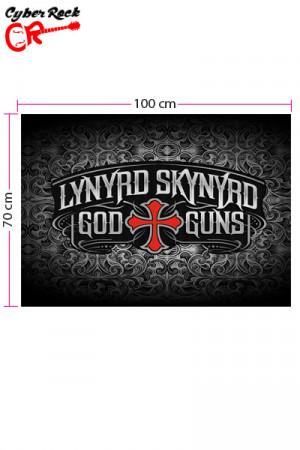 Bandeira Lynyrd Skynyrd God Guns