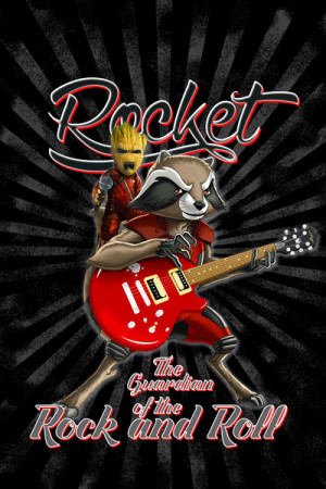 Camiseta Rocket The Guardian Of The Rock And Roll