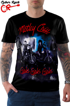 Camiseta Motley Crue Girls Girls Girls