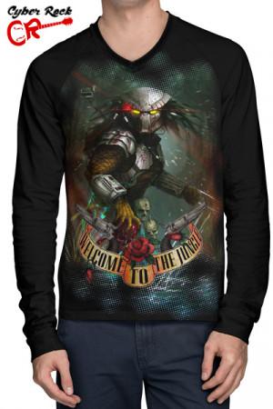 Camiseta Raglan Welcome to the Jungle frente