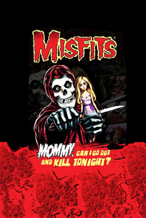 Camiseta Misfits Mommy Can I Go Out And Kill Tonight