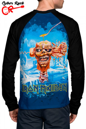 Raglan Manga Longa Iron maiden seventh son