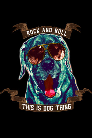 Camiseta Rock And Roll This Is Dog Thing