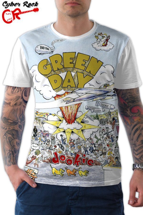 Camiseta Green Day Dookie Branca