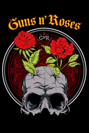 Blusinha Guns n Roses Skull Roses