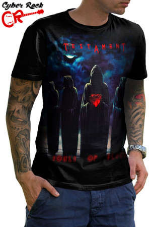 Camiseta Testament Souls of Black