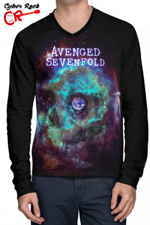 Camiseta Raglan Avenged Sevenfold Stage Manga Longa