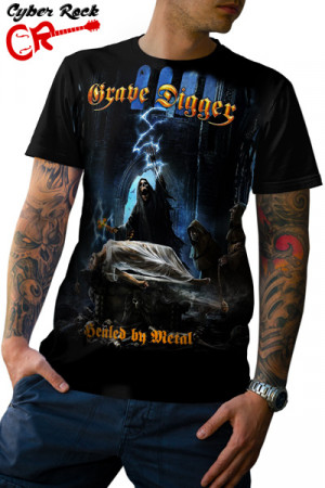 Camiseta Grave Digger Healed by Metal