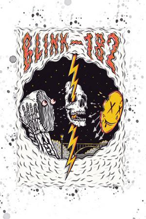 Camiseta Blink-182 branca
