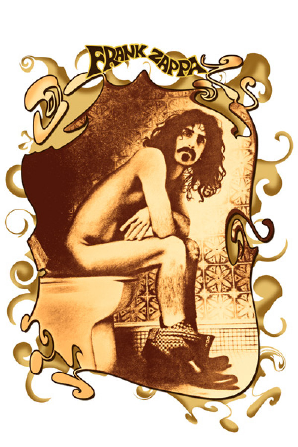 Camiseta Frank Zappa Bathroom