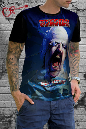 Camiseta Scorpions Blackout