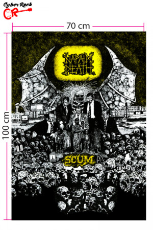 Bandeira Napalm Death Scum