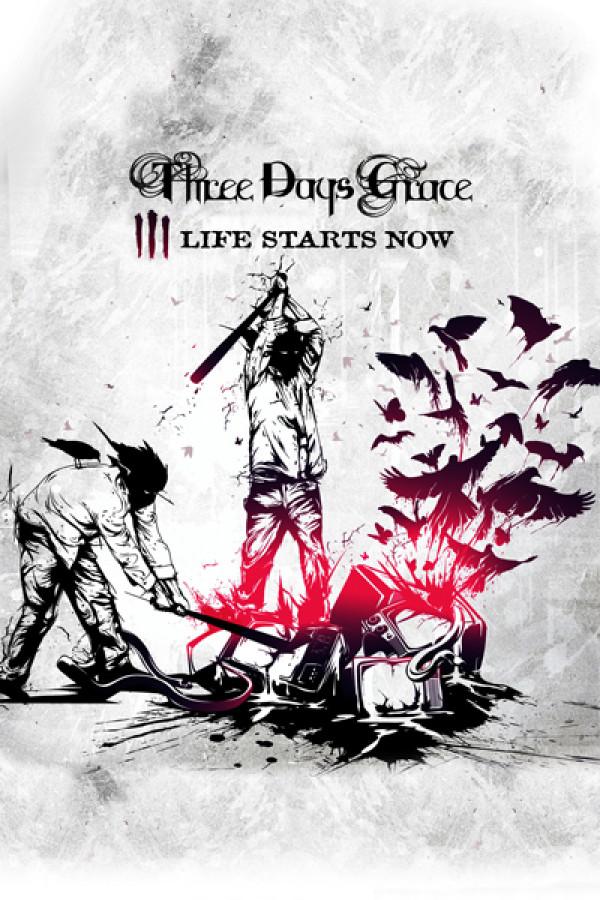 Camiseta Three Days Grace Life Starts Now