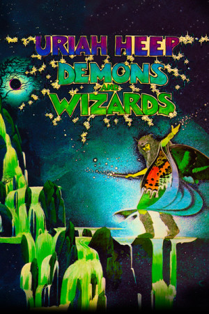 Capa Almofada Uriah Heep Demons and Wizards