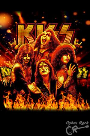 Almofada Banda Kiss Fire