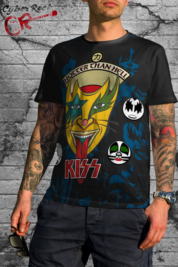 Camiseta-kiss-hotter-than-hell