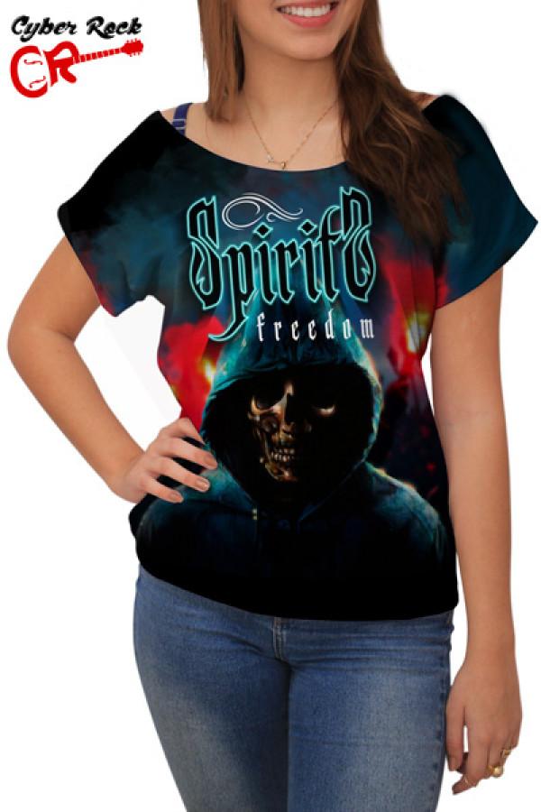 Blusinha Skull Spirits Freedom