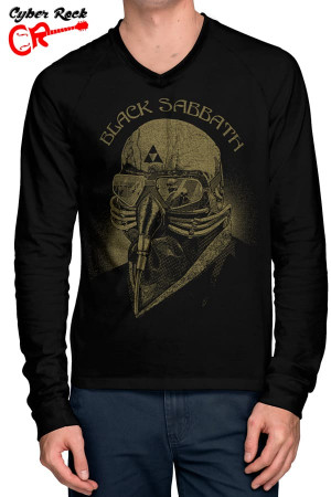 Raglan manga longa Black Sabbath iron man Frente