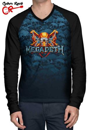 Raglan Manga Longa Megadeth