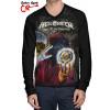 Camiseta Raglan Helloween Keeper of the seven keys Manga Longa