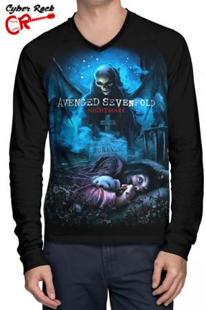 Camiseta Raglan Avenged Sevenfold Nightmare Manga Longa