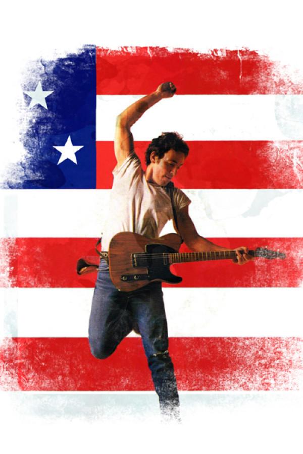 Camiseta Bruce Springsteen branca