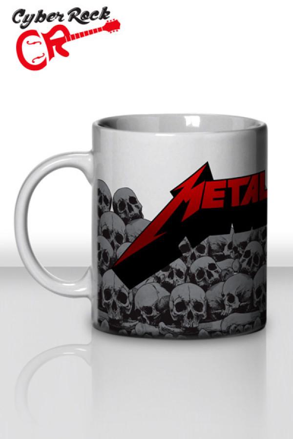 Caneca Metallica Skulls