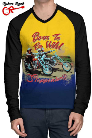 Raglan Manga Longa Steppenwolf Born to be Wild fr