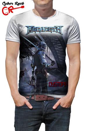 Camiseta Megadeth Distopia branca
