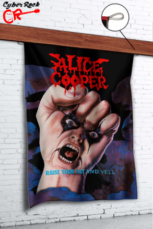 Bandeira Alice Cooper Raise Your Fist And Yell