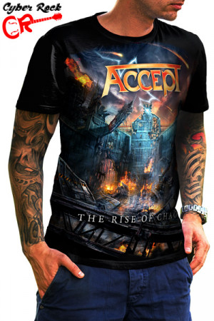 Camiseta Accept The Rise Of Chaos
