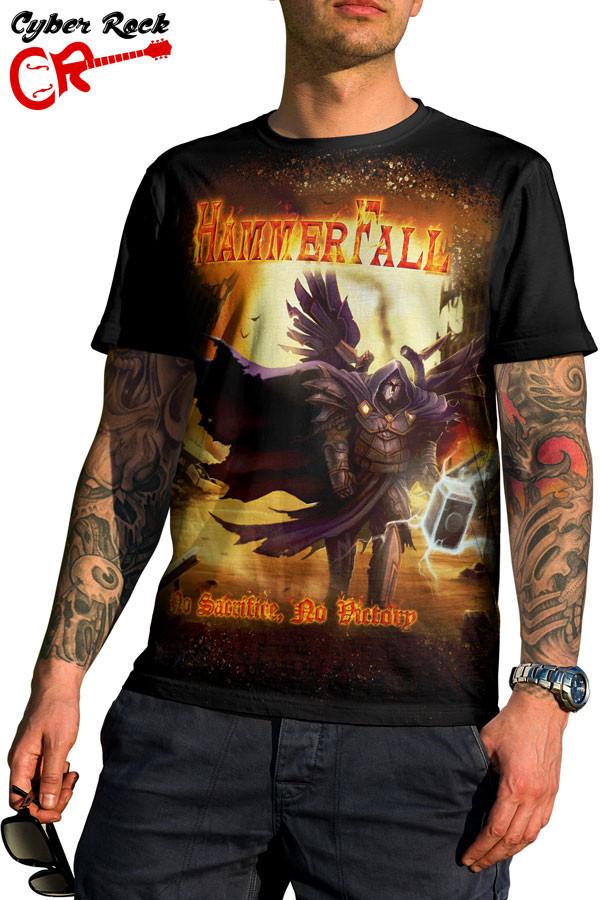 Camiseta HammerFall No Sacrifice No Victory