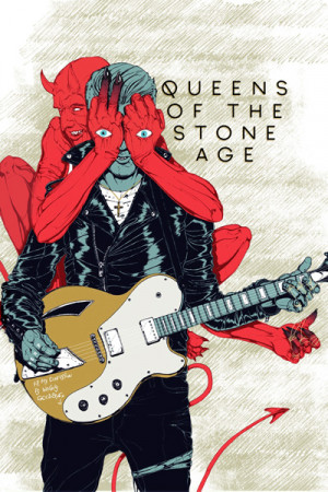 Blusinha Queens of the Stone Age Villains Branca