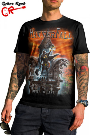 Camiseta Hammerfall Built to Last